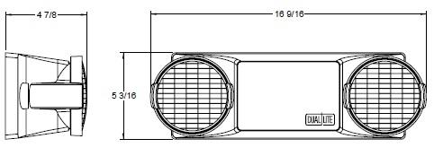 dual lite ez 2 par36 dual emergency light, wall mount