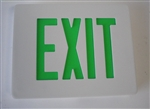 Dual-Lite SESGW Sempra Die Cast Exit Sign, Single Face, Green Letter Color, White Finish, AC Only, No Self-Diagnostic