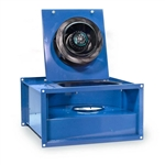 "Fantech FRD16-8 Inline Rectangle Centrifugal Fan, Galvanized Steel Housing 560 CFM, 16"" x 8"" Rectangle Duct"