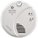 First Alert SC7010B 120V AC/DC Hardwired with 2 AA Batteries Backup Photoelectric Smoke Alarm and Carbon Monoxide Combo Alarm