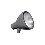 Hubbell Outdoor Lighting 103-7 150W PAR38 Universal Aiming Bell Shape Landscape Lampholder, Shielded, Gray Finish