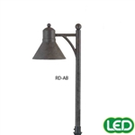 Hubbell Outdoor Lighting RD-AB 1.5W LED Reidville Lightscraper Landscape Light, Die Cast Aluminum, Antique Bronze Finish