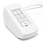 Insteon 2486PWH KeypadLinc Dimmer 6-Button Scene Control Keypad with Tabletop Enclosure, White