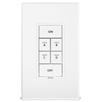 Insteon 2487S KeypadLinc - INSTEON 6-Button Scene Control Keypad with On/Off Switch (Dual-Band), White
