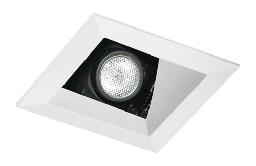 Juno Aculux Recessed Lighting 438SQW-SF 3-1/4  Line Voltage Low Voltage LED Square Angle Cut Reflector Self Flanged Square Downlight White Trim  sc 1 st  Electric Bargain Store & Juno Aculux Recessed Lighting 438SQW-SF 3-1/4