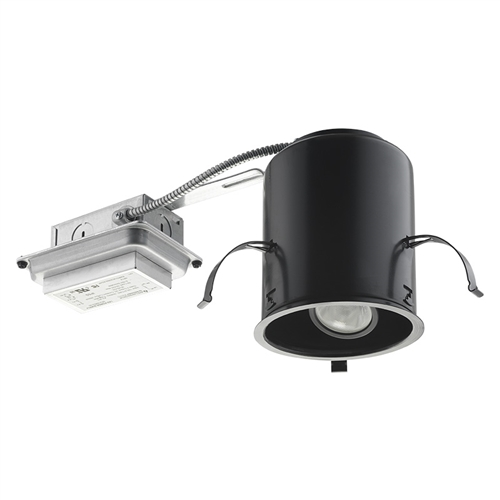 Juno Recessed Lighting IC4RAL 3K F U 4  Adjustable LED IC Type Remodel  Housing 700 Lumens  3000K Color Temperature  Flood Beam  Universal Driver  120 277VJuno Recessed Lighting IC4RAL 3K F U 4  Adjustable LED IC Type  . Recessed Lighting Housing Types. Home Design Ideas