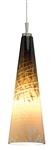 Juno Lighting P95TWA-BRZ-TOR (DPEND TM P95 TOR 72IN E26 BZC WHA) Long Cone Line Voltage Decorative Pendant for Trac Master White 120V 100W A19 Inc, Bronze Fixture, Tortoise Shade