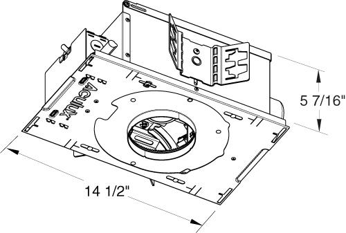 Juno Aculux Recessed Lighting TC943N-V (TC943N MLV 277) 3-1/4 inch on