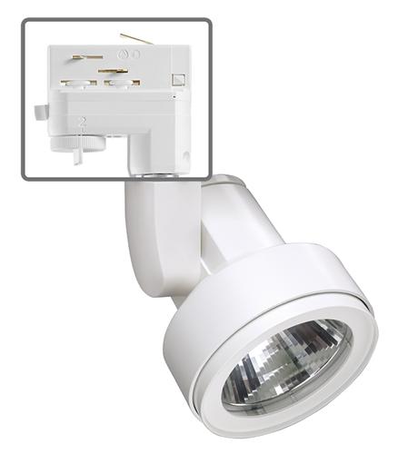 Juno Commercial Track Lighting: Juno HD Commercial Track Lighting TEK254L4KSWH (T254L TEK