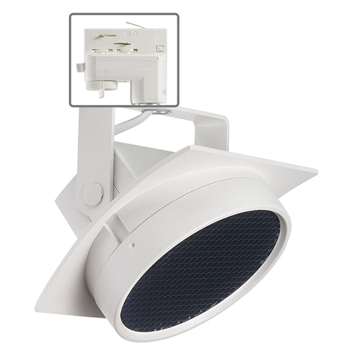 Juno Commercial Track Lighting: Juno HD Commercial Track Lighting TEK275L3KNHCLWH (T275L