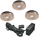 Juno Undercabinet Lighting UK3STL-3K-BZ (UK3STL 30K 80CRI BZ) 3-Puck Light LED KIT, 3000K Color Temperature, Bronze Finish