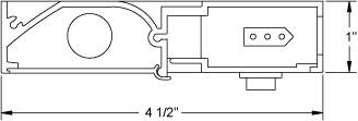 Juno Undercabinet Lighting UPF34-NS-WH-CP6 34