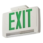 Lithonia ECBG LED M6 LED Exit Sign White Thermoplastic Single Face Green Letters Battery Backup