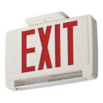Lithonia ECBR LED M6 LED Exit Sign White Thermoplastic Single Face Red Letters Battery Backup