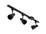 Lithonia LTKSTBF BR30 DBL M4 Lithonia LED Step Baffle Track Kit 100 Watt Max BR30 lamps not included Black