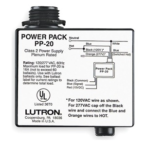 Lutron PP 20 2?1367591383 lutron pp 20 occupancy motion sensor power pack, 120 or 277 vac occupancy sensor power pack wiring diagram at fashall.co