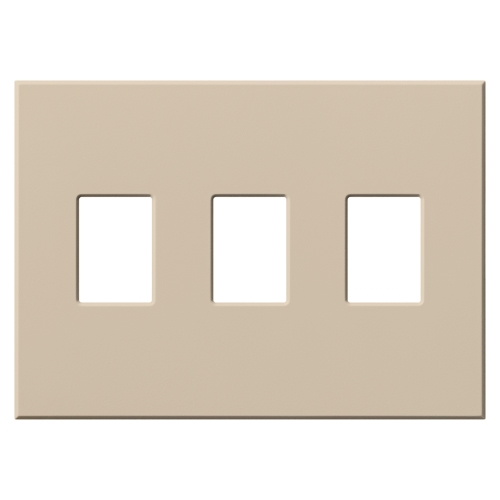 Lutron vwp 3 tp vareo 3 gang wallplate in taupe matte finish - Gang grijze taupe ...
