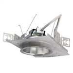 Pescolite LC6LED120DM-6LCLED535K8 6 inch LED Housing and Trim, 120V, 0-10V Dimming to 10%, 1000 Lumens, 3500K, 80 CRI, Clear Alzak, Semi-Diffuse Reflector