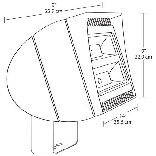 rab fxled105t 105w trunnion mount led floodlight, 5000k (cool), norab fxled105t 105w trunnion mount led floodlight, 5000k (cool), no photocell, 120 277v, standard operation, bronze finish