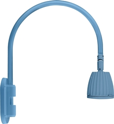 "RAB GN4LED13NSLB 26W LED Gooseneck No Shade with Wall 20"" High, 19"" from Wall Goose Arm, 4000K (Neutral), Spot Reflector, Light Blue Finish"