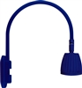 "RAB GN4LED13YBL 26W LED Gooseneck No Shade with Wall 20"" High, 19"" from Wall Goose Arm, 3000K (Warm), Flood Reflector, Royal Blue Finish"