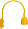 "RAB GN4LED13YYL 26W LED Gooseneck No Shade with Wall 20"" High, 19"" from Wall Goose Arm, 3000K (Warm), Flood Reflector, Yellow Finish"