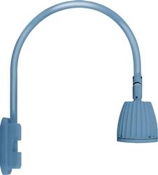 RAB GN5LED26YSLB 26W LED Gooseneck No Shade With Pole 20 High 19
