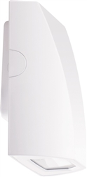 RAB SLIM12NW/PC2 12W Slim LED Wallpack, 277V Button Photocell, 4000K (Neutral), 1372 Lumens, 82 CRI, Standard Operation, White Finish