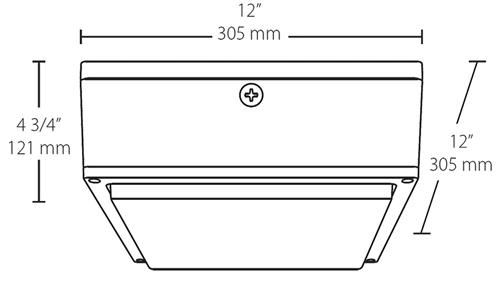 RAB VANLED40 40W LED Canopy Light 5000K (Cool) 4379 Lumens 75 CRI 120V-277V Drop Lens Standard Operation DLC Listed Bronze Finish  sc 1 st  Electric Bargain Store & RAB VANLED40 40W LED Canopy Light 5000K (Cool) 4379 Lumens 75 ...