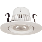 "Satco S9116 9W 4"" LED Gimbaled Recessed Downlight Retrofit, 120V, Medium E26 Base, 3000K, 40 Degree Beam Spread - 9WLED/RDL/4/120V/GMBL"