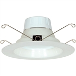"Satco S9118 11W 5"" and 6"" LED Baffle Recessed Downlight Retrofit, 120V, Medium E26 Base, 3000K, 90 Degree Beam Spread - 11WLED/RDL/5-6/120V/BFL"