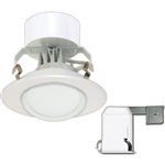 "Satco S9120 10.4W 4"" LED Gimbaled Recessed Downlight Retrofit Kits, 120V, Connector Base, 3000K, 90 Degree Beam Spread - 10.4WLED/RDL/4GBL/KIT/120V"