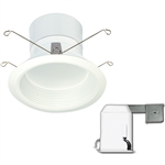 "Satco S9122 11.6W 5"" LED Baffle Recessed Downlight Retrofit Kits, 120V, Connector Base, 3000K, 90 Degree Beam Spread - 11.6WLED/RDL/5-6BFL/KIT120V"