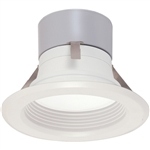 "Satco S9124 8.5W 4"" LED Baffle Recessed Downlight, Retrofit, 120V, Medium E26 Base, 3000K, 90 Degree Beam Spread - 8.5WLED/RDL/4BFL/120V"