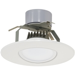 "Satco S9125 11W 5"" and 6"" LED Gimbled Recessed Downlight Retrofit, 120V, Medium E26 Base, 3000K, 90 Degree Beam Spread - 11WLED/RDL/5-6GBL/120V"