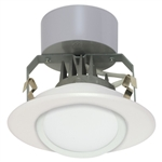"Satco S9129 7W 4"" LED Gimbled Recessed Downlight Retrofit, 12V, Miniature 2 Pin Round GU5.3 Base, 3000K, 90 Degree Beam Spread - 7WLED/RDL/4GBL/12V"
