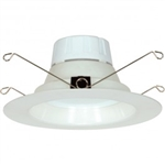 "Satco S9196 11W 5"", 6"" LED Recessed Downlight Retrofit, 120V, Medium E26 Base, 2700K, 90 Degree Beam Spread - 11WLED/RDL/5-6/120V/BFL"