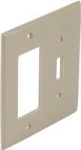 Square D Schneider Electric SLSWP2DTI Dual Cover Plate Deco/Toggle, Ivory Color