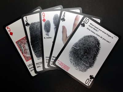 Playing Cards - Searching Smart Clues for Latent Print Examiners
