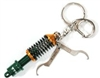 Tein Coilover Key Chain, Green/Gold