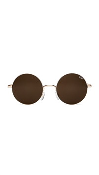 Quay Rose Gold/Brown Lens 'Electric Dreams' Sunglasses