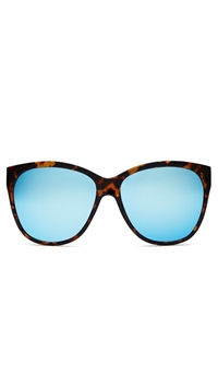 Quay 'About Last Night' Tortoise Frame/Blue Mirror Lens Sunglasses