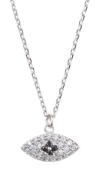 Theia White Gold Necklace With Evil Eye