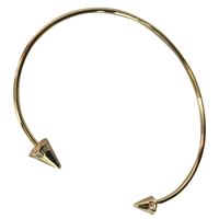 Theia Gold Bangle Bracelet With CZ Spike Accent