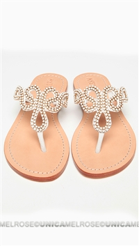 Mystique White and Gold Sandal