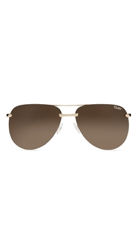 Quay Gold Frame/Brown Lens 'The Playa' Sunglasses