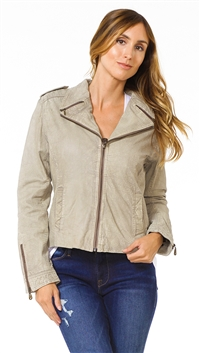 DOMA Vintage Taupe Color Leather Jacket