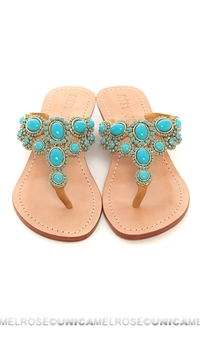 Mystique Turquoise & Gold Wedges