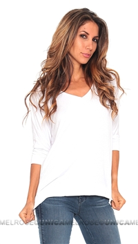 Feel the Piece White Fortune Raglan Top