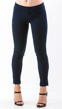 J Brand Navy Anja Clean Cuff Cropped Jeans